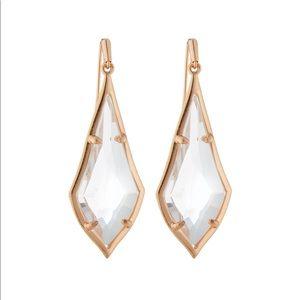 Kendra Scott Olivia Clear Drop Earrings
